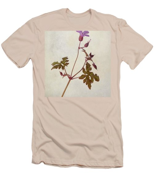 Herb Robert - Wild Geranium  #flower Men's T-Shirt (Slim Fit)