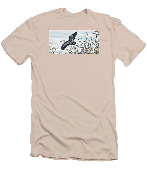 Herons Flight Men's T-Shirt (Slim Fit) by James Williamson