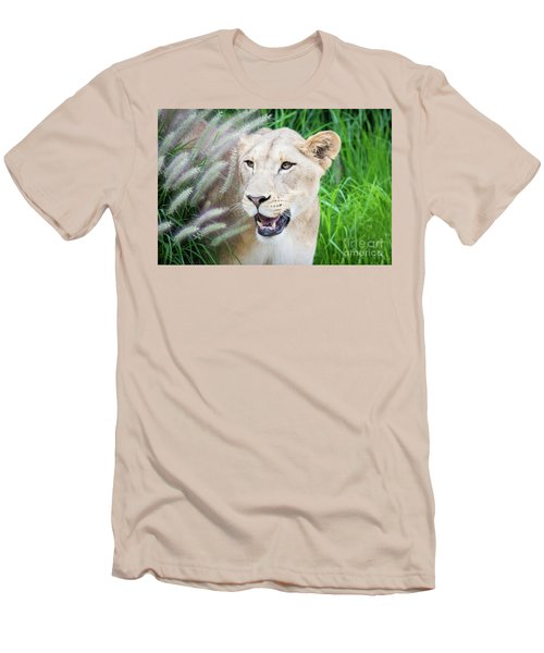 Hiding In Grass Men's T-Shirt (Athletic Fit)