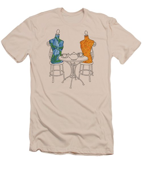 Men's T-Shirt (Slim Fit) featuring the painting High Tea by Meg Shearer