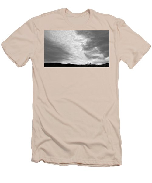 Men's T-Shirt (Slim Fit) featuring the photograph Hikers Under The Clouds by Joe Bonita