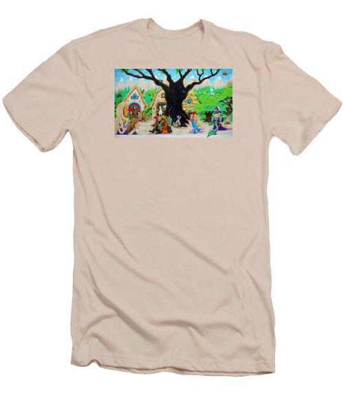 Hobbit Land Men's T-Shirt (Slim Fit) by Matt Konar