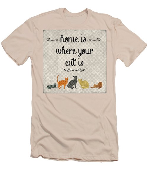 Home Is Where Your Cat Is-jp3040 Men's T-Shirt (Athletic Fit)