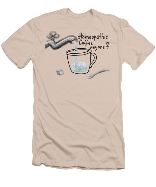 Homeopathic Coffee Men's T-Shirt (Athletic Fit)
