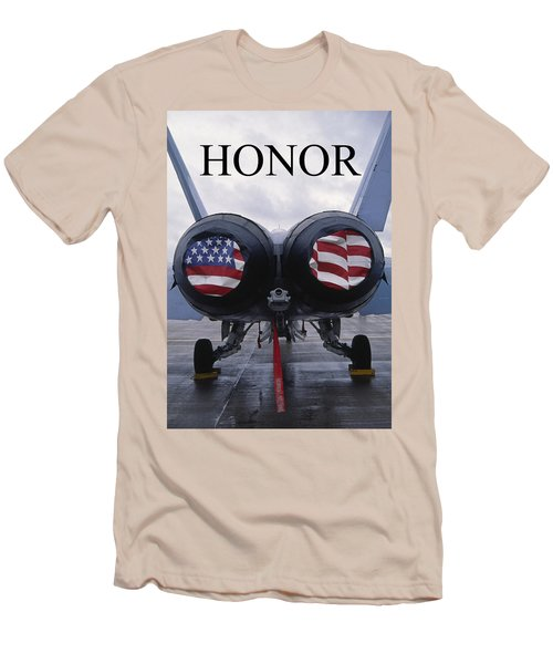 Honor The Flag Men's T-Shirt (Athletic Fit)