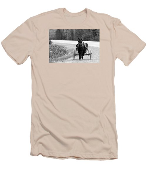 Horse And Buggy Men's T-Shirt (Slim Fit) by Marjorie Imbeau