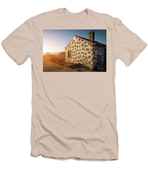 Men's T-Shirt (Slim Fit) featuring the photograph House On The Cliff by Carlos Caetano