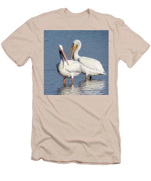 How About A Date Gorgeous? Men's T-Shirt (Slim Fit) by Rosalie Scanlon