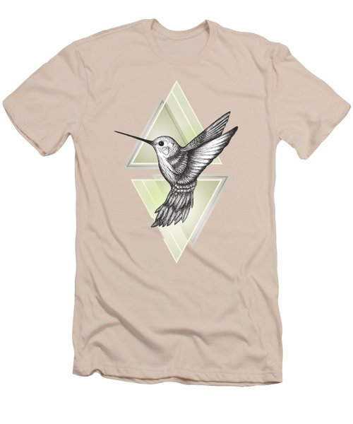 Hummingbird Men's T-Shirt (Slim Fit) by Barlena