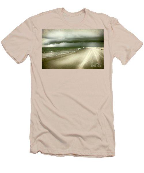 Hurricane Storm Ocracoke Island Outer Banks Men's T-Shirt (Slim Fit) by Dan Carmichael
