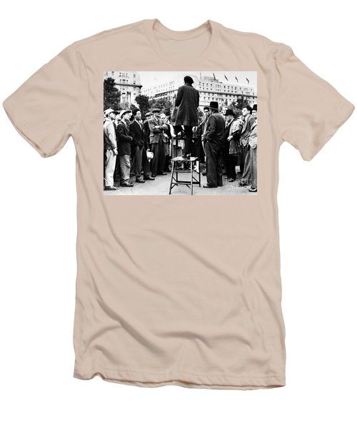 Men's T-Shirt (Athletic Fit) featuring the photograph Hyde Park, 1957 by Granger