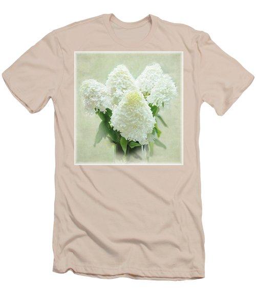 Hydrangeas Men's T-Shirt (Slim Fit) by Geraldine Alexander
