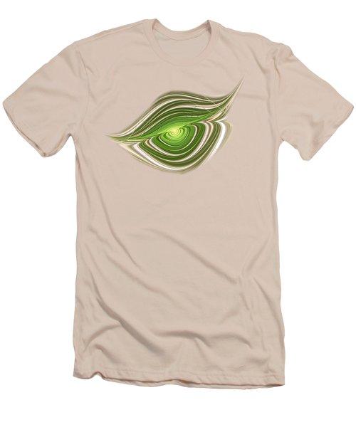 Men's T-Shirt (Slim Fit) featuring the digital art Hypnotic Eye by Anastasiya Malakhova