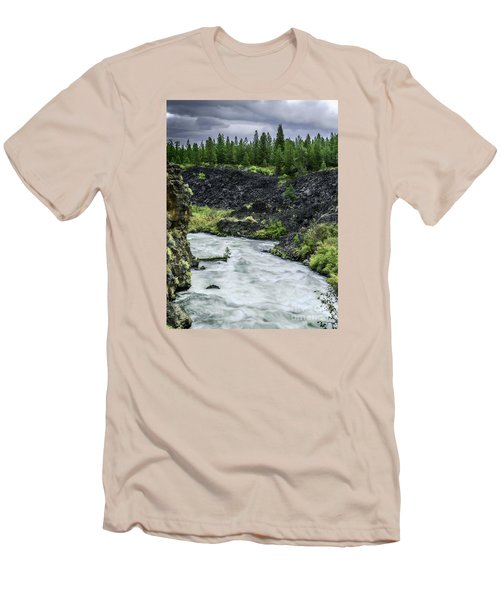 I Am River Hear Me Roar Men's T-Shirt (Slim Fit) by Nancy Marie Ricketts