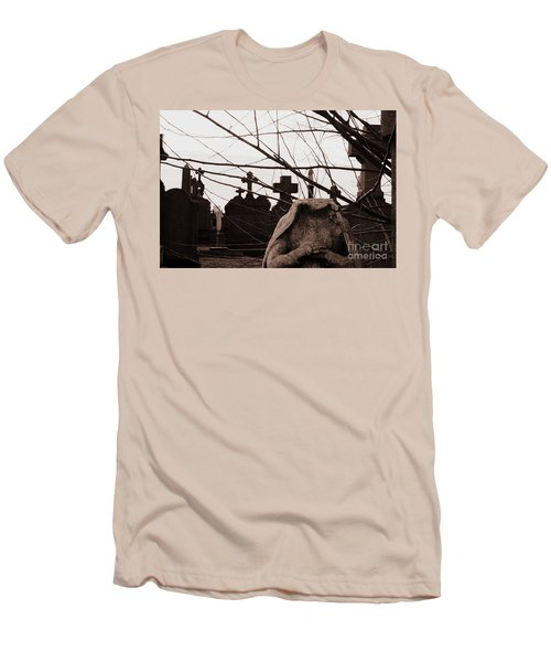 I Ask Why Men's T-Shirt (Athletic Fit)