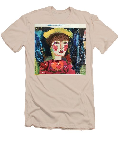 Men's T-Shirt (Slim Fit) featuring the painting I Carry Your Heart In My Heart by Kim Nelson
