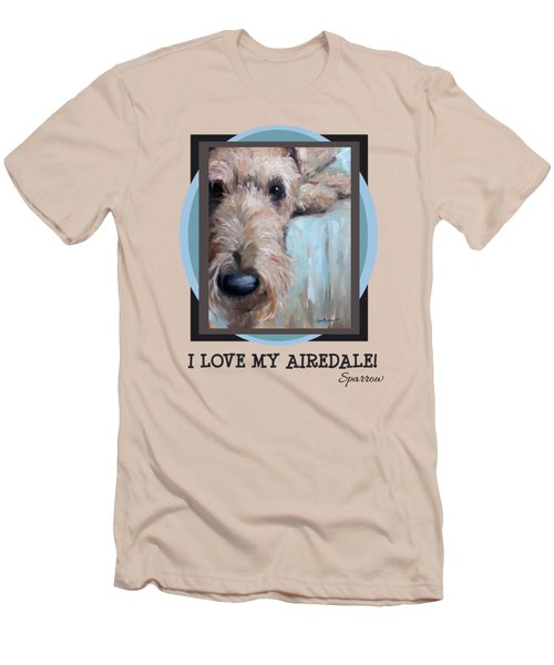 I Love My Airedale Men's T-Shirt (Athletic Fit)
