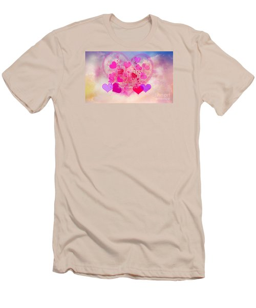 I Love You..happy Valentines Day Men's T-Shirt (Slim Fit) by Sherri's Of Palm Springs