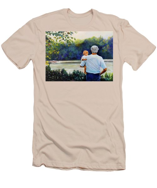 Ian And His Daddy One Sunday Afternoon Men's T-Shirt (Slim Fit) by Marlene Book