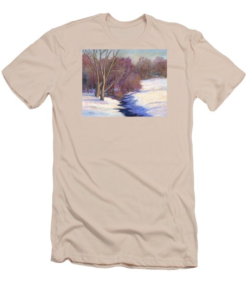Men's T-Shirt (Slim Fit) featuring the painting Icy Stream by Vikki Bouffard