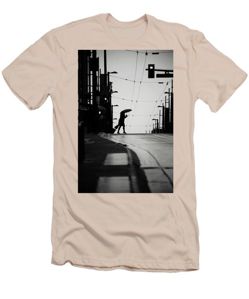 Men's T-Shirt (Slim Fit) featuring the photograph Im Leaving But Never  by Empty Wall
