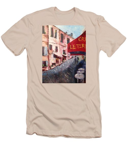Impressions Of A French Cafe Men's T-Shirt (Slim Fit) by Roxy Rich