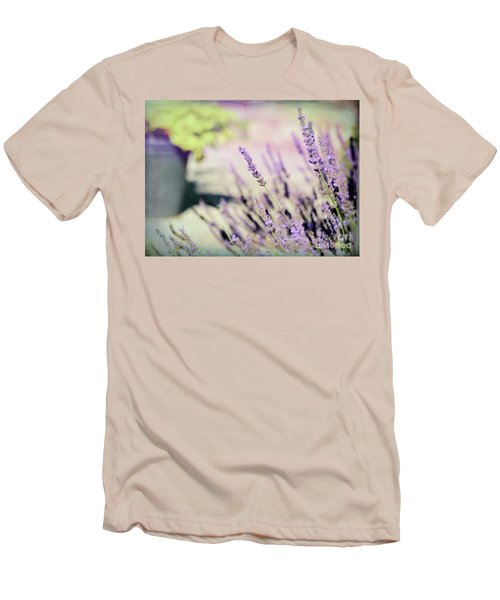 Men's T-Shirt (Athletic Fit) featuring the photograph In Love With Lavender by Kerri Farley