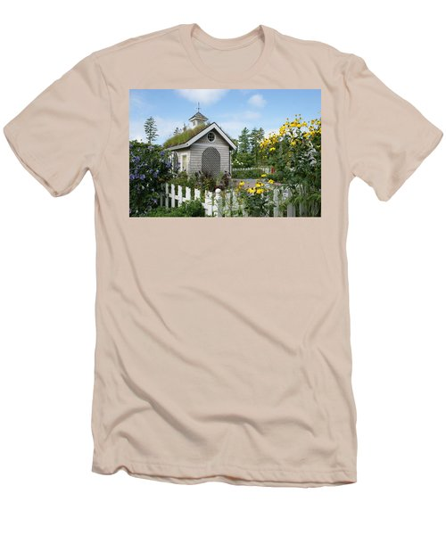 In The Garden Men's T-Shirt (Slim Fit) by Lois Lepisto