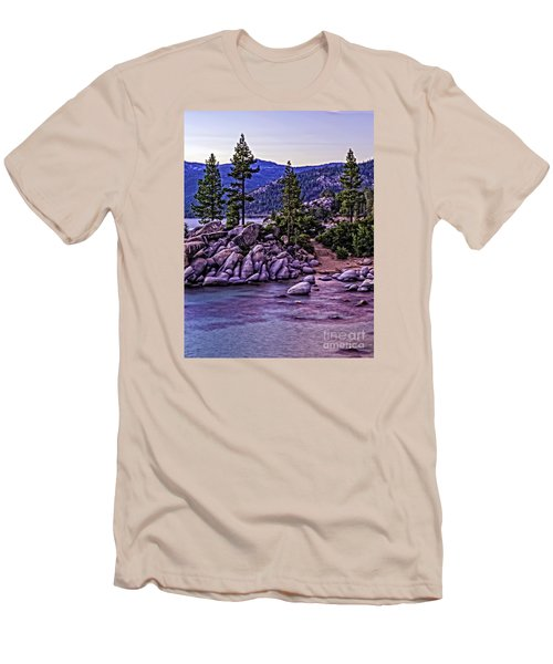 In The Still Of Dusk Men's T-Shirt (Slim Fit) by Nancy Marie Ricketts