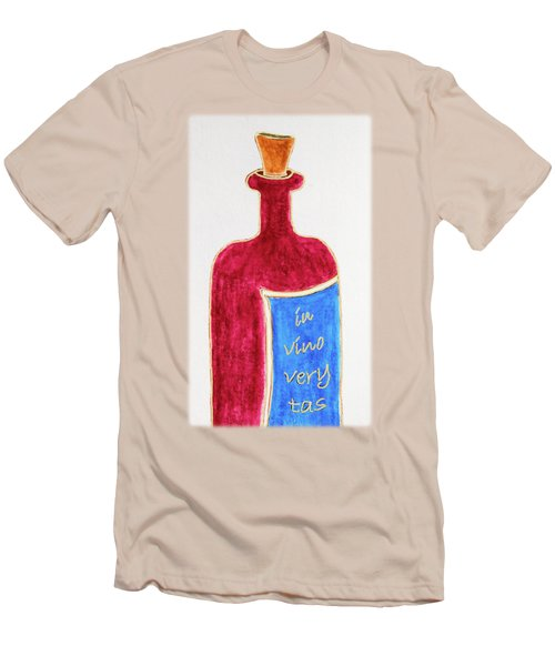 Men's T-Shirt (Slim Fit) featuring the drawing In Vino Very Tas by Frank Tschakert