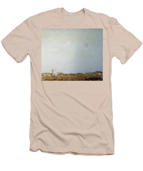 Men's T-Shirt (Slim Fit) featuring the painting Incredible Lightness Of Being by Lenore Senior