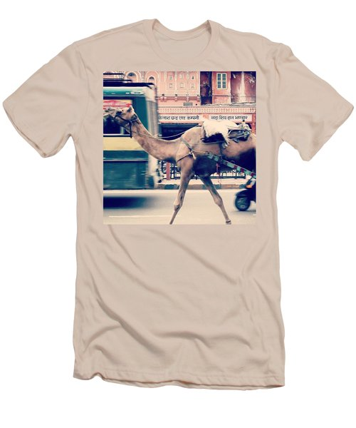 India - Where Even The Camels Overtake Men's T-Shirt (Athletic Fit)