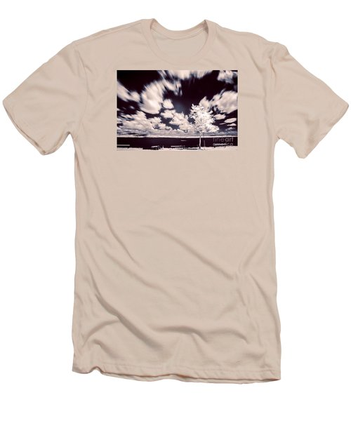 Men's T-Shirt (Slim Fit) featuring the photograph Infrared Lake by Odon Czintos