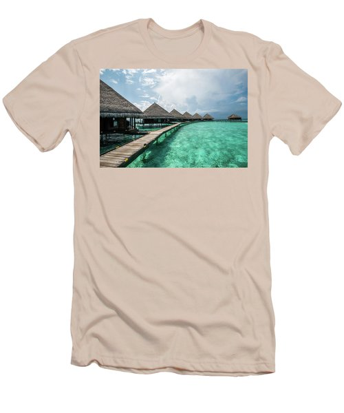 Men's T-Shirt (Slim Fit) featuring the photograph Inhale by Hannes Cmarits