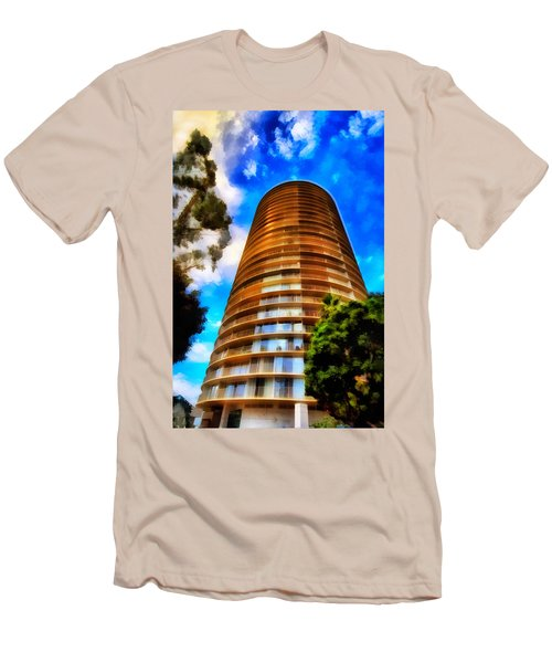 Men's T-Shirt (Slim Fit) featuring the photograph International Tower  by Joseph Hollingsworth