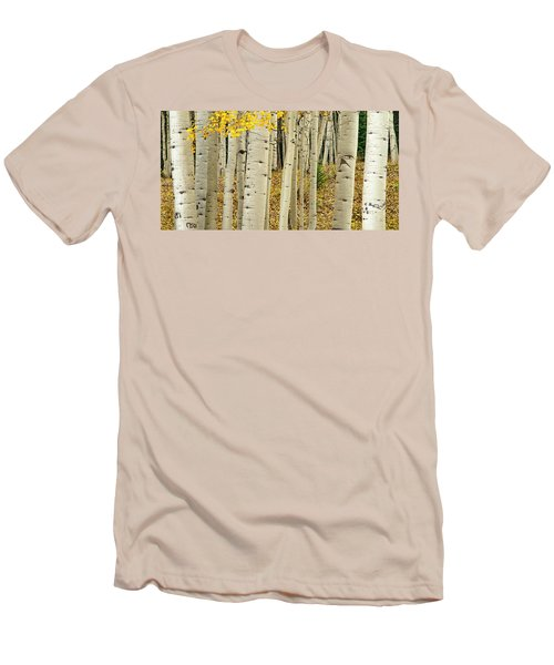 Men's T-Shirt (Athletic Fit) featuring the photograph Into The Forest by Gary Lengyel