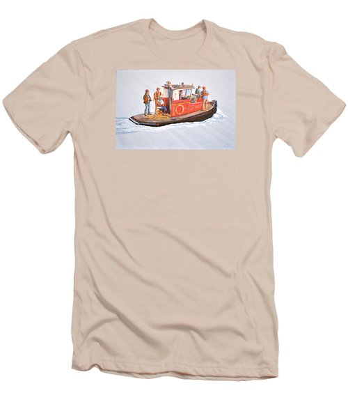 Into The Mist-the Crew Boat Men's T-Shirt (Slim Fit) by Gary Giacomelli