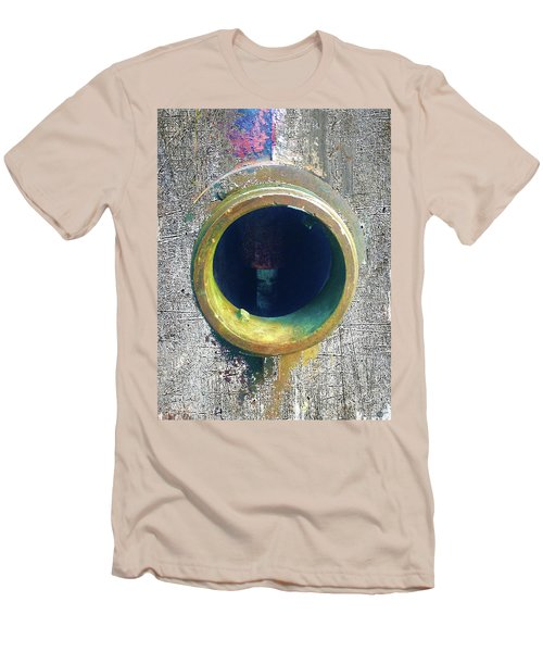 Men's T-Shirt (Slim Fit) featuring the mixed media Inturupted by Tony Rubino