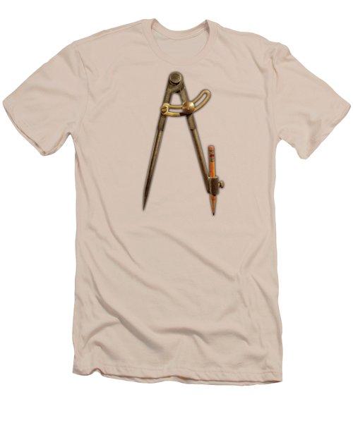 Iron Compass Pattern Men's T-Shirt (Slim Fit) by YoPedro