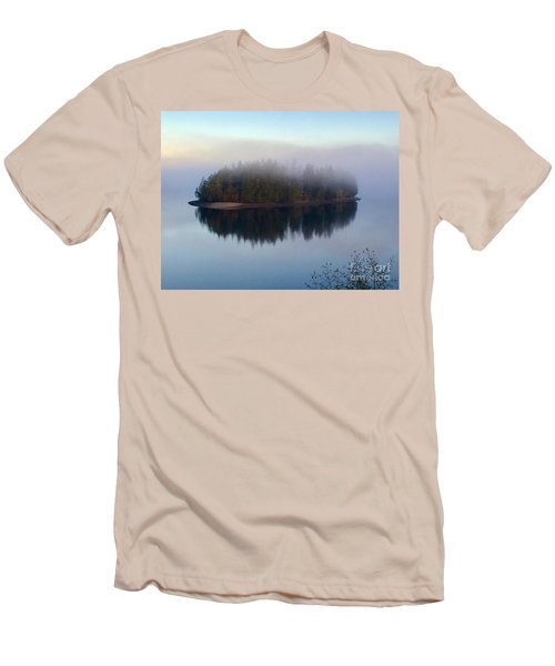 Island In The Autumn Mist Men's T-Shirt (Athletic Fit)