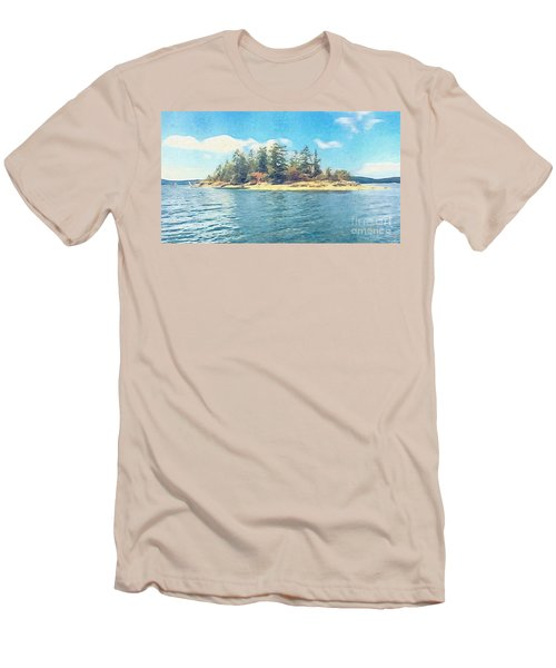 Men's T-Shirt (Slim Fit) featuring the photograph Island In The Sound by William Wyckoff