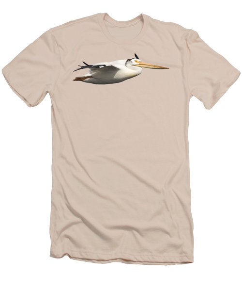 Men's T-Shirt (Slim Fit) featuring the photograph Isolated Pelican 2016-1 by Thomas Young