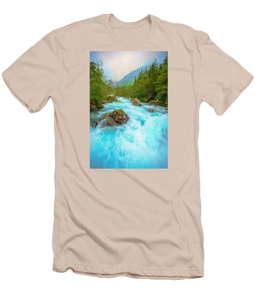 Men's T-Shirt (Slim Fit) featuring the photograph Istra River by Rose-Maries Pictures