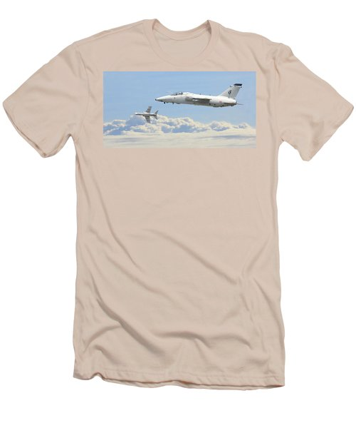 Men's T-Shirt (Slim Fit) featuring the digital art Italian Air Force - Ghibli by Pat Speirs
