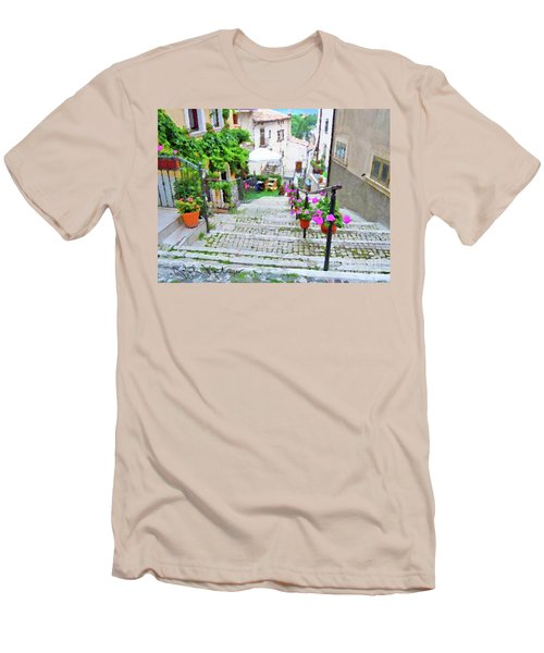 Italy In The Spring  Men's T-Shirt (Athletic Fit)