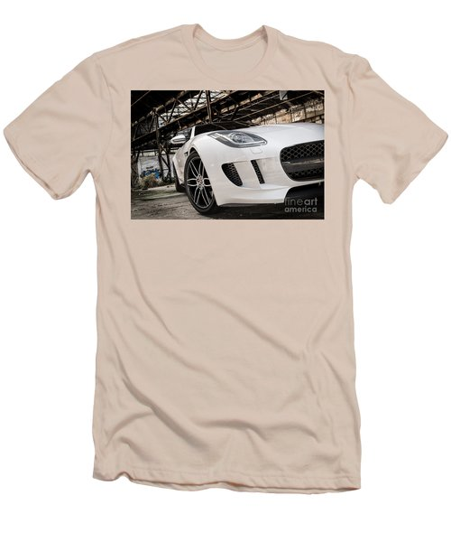 Jaguar F-type - White - Front Close-up Men's T-Shirt (Athletic Fit)
