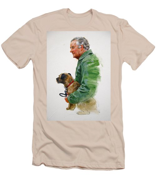 James Herriot And Bodie Men's T-Shirt (Slim Fit) by Cliff Spohn