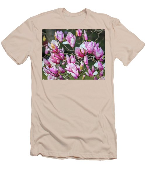 Japanese Blooms Men's T-Shirt (Slim Fit) by Gregory Daley  PPSA