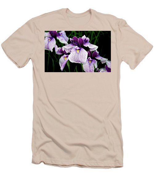 Japanese Water Iris In Purple 2714 H_2 Men's T-Shirt (Athletic Fit)
