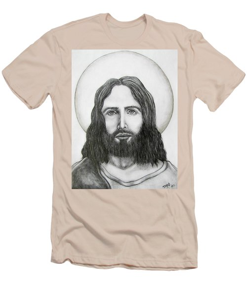 Men's T-Shirt (Slim Fit) featuring the drawing Jesus Christ by Michael  TMAD Finney